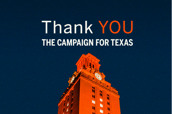 UT Tower Thank you Campaign for Texas