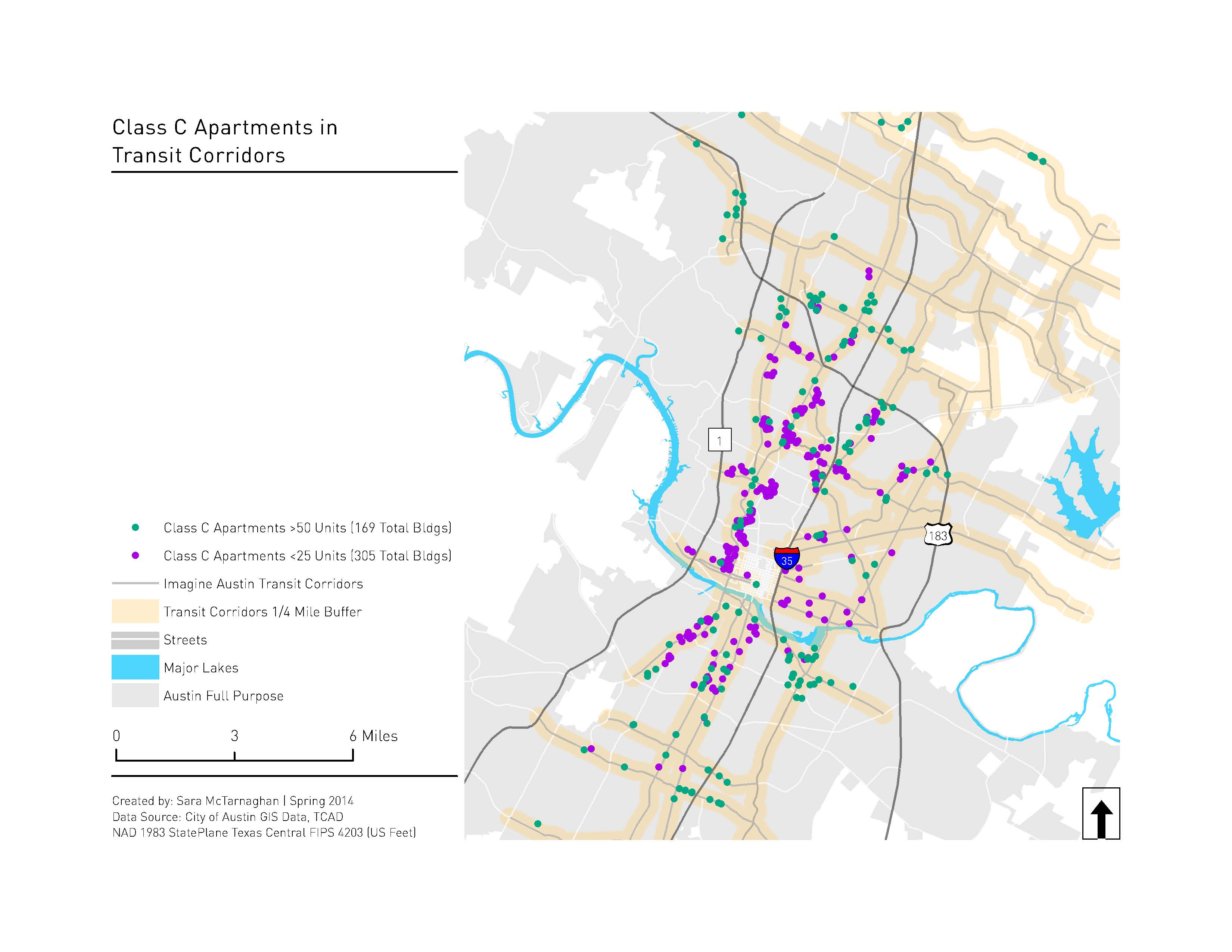 map of transit corridors and aging rental housing