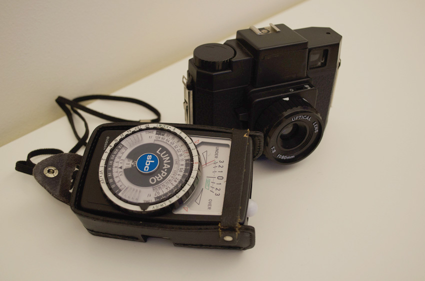 Holga camera & light meter