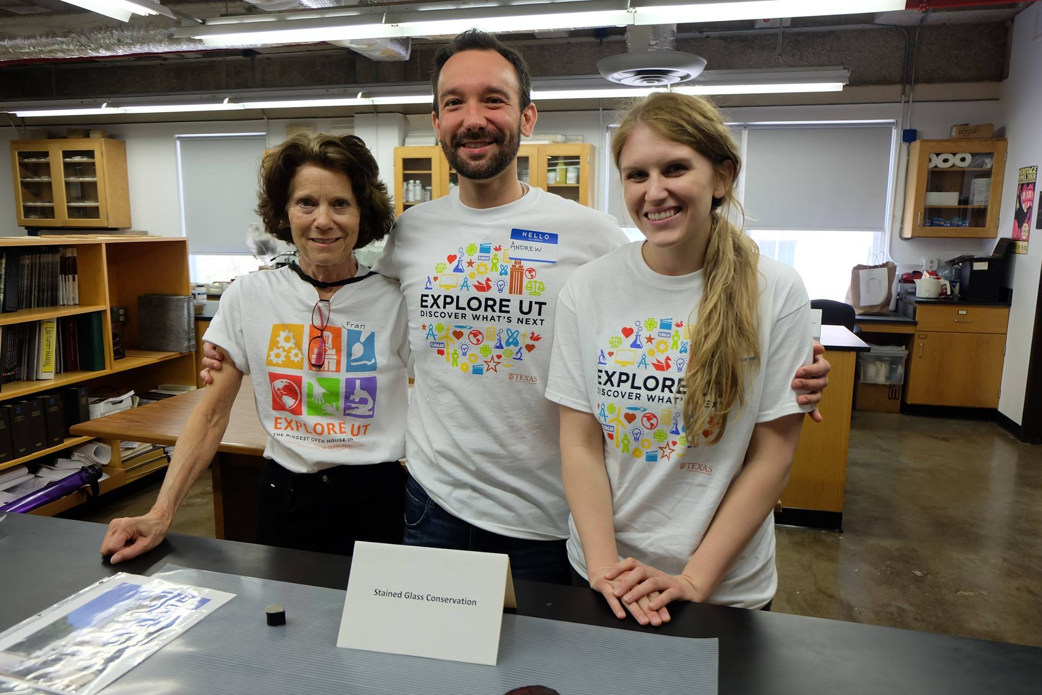 Professor Fran Gale, Andrew Leith MSHP '16, and Kelsey Riddle MSHP '17