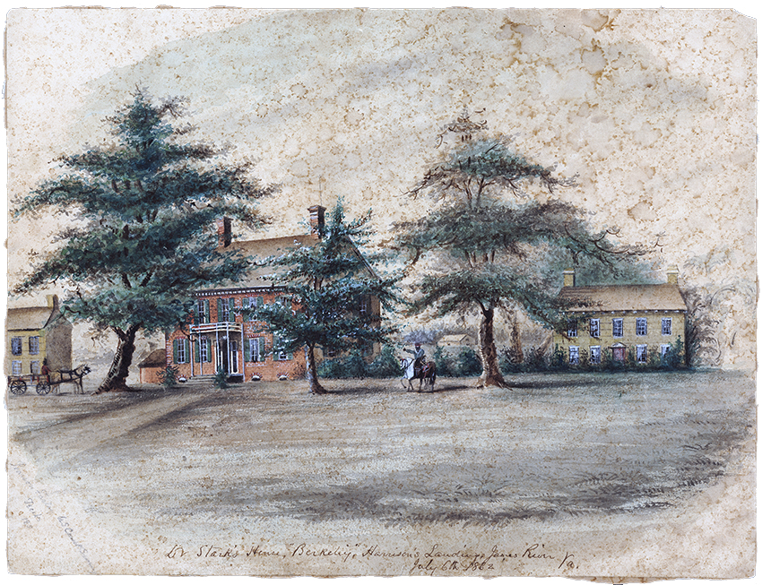 Historic painting of the Berkeley Plantation