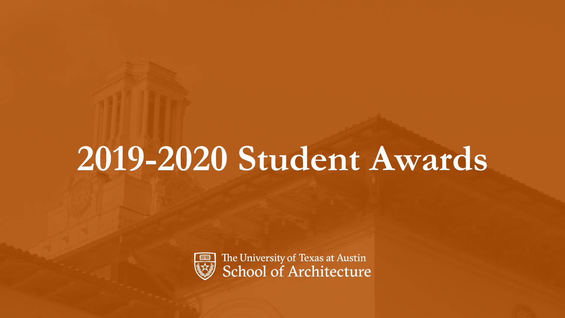 2019-2020 Student, Faculty and Staff Awards