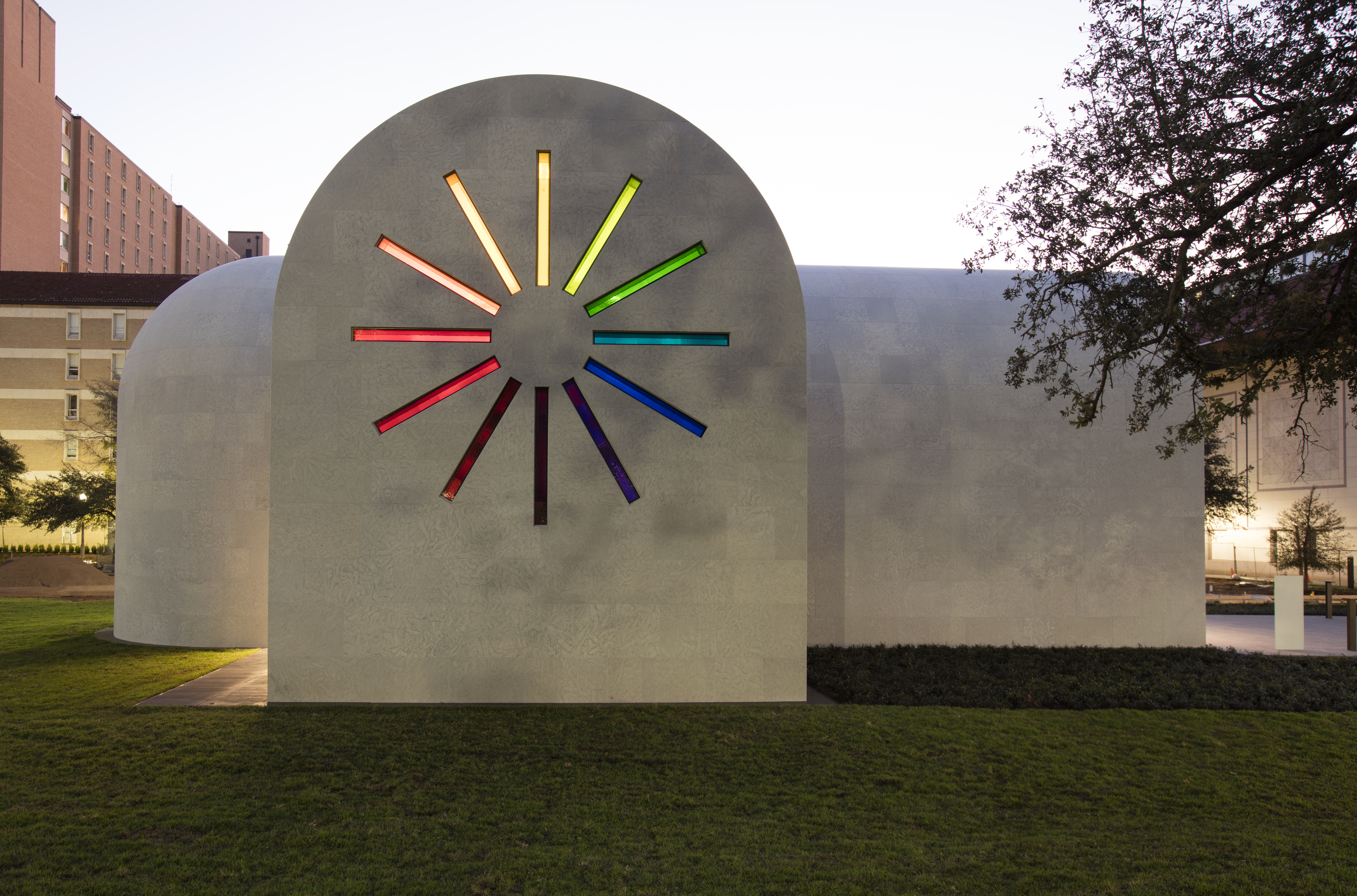 "Ellsworth Kelly's ""Austin,"" west facade."