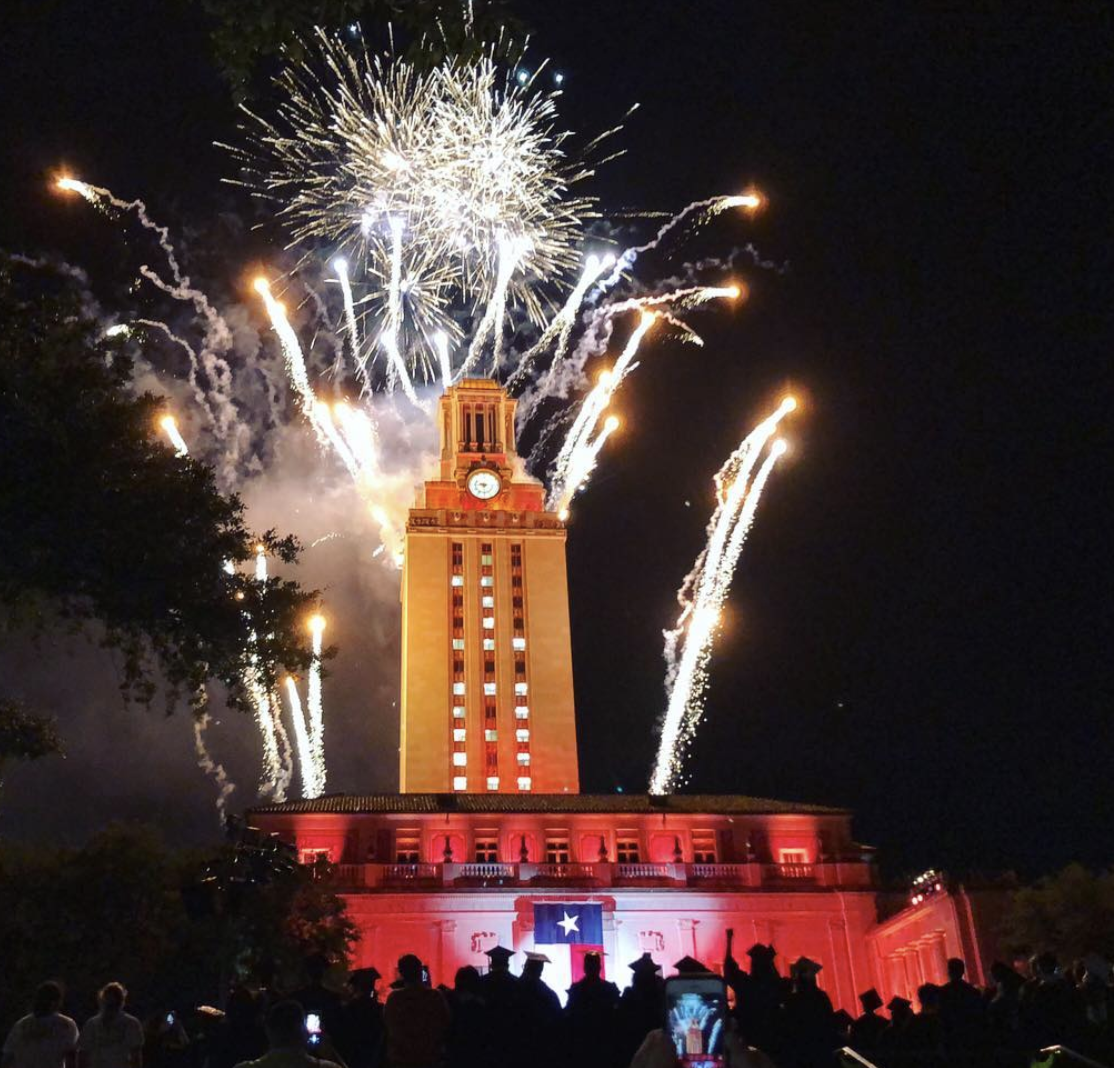 Fireworks at UT Tower
