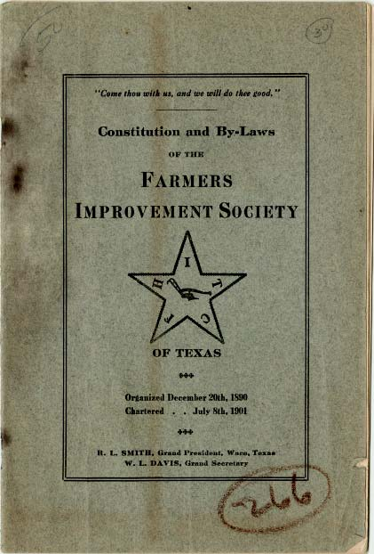 The Farmers' Improvement Society and the Women's Barnyard Auxiliary of Texas: African American Community Building in the Progressive Era cover