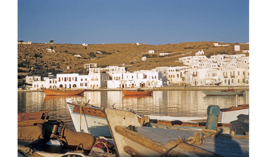 Island of Mykonos seafront, Cylades, Greece