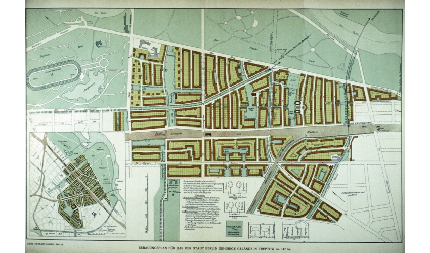 Treptow housing plan with gardens and green spaces