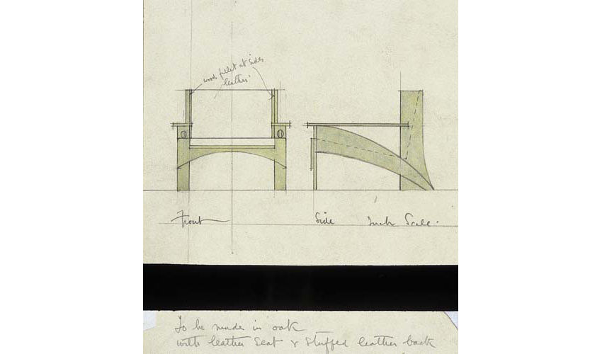 Furniture drawing, Sketches from the Mackintosh Collection, Charles Rennie Mackintosh, England, 1900-1911.