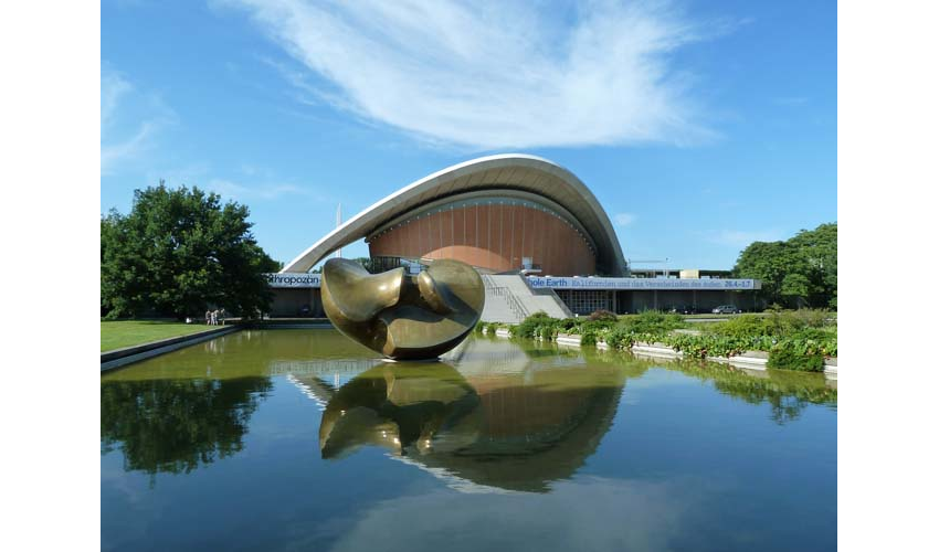 Haus der Kulturen der Welt (House of the Cultures of the World) in Tiergarten, Mitte is Berlin's most famous park and historic landscape.
