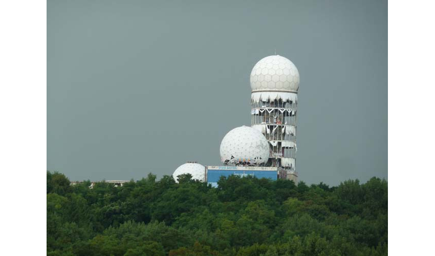 Teufelsberg, Grunewald, Charlottenburg-Wilmersdorf is the site of the abandoned NSA listening station.