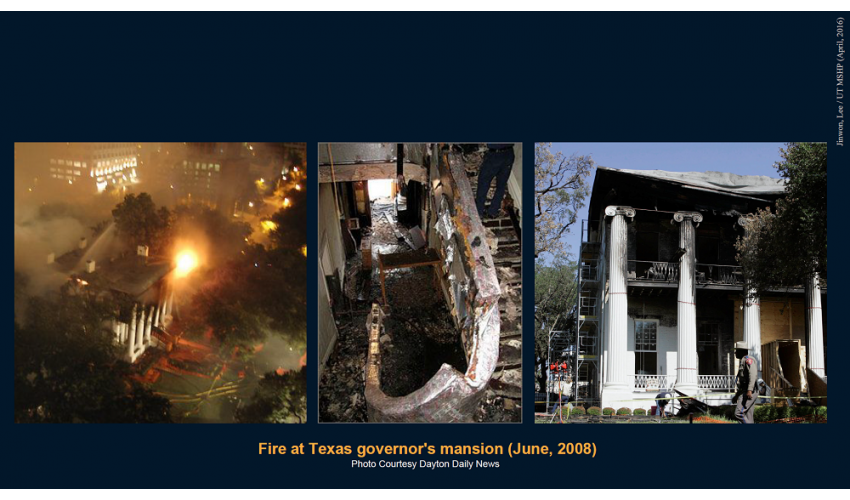 Fire at the Texas Governor's Mansion