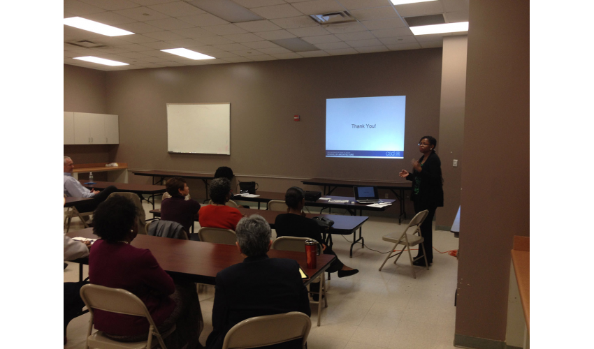 Presentation to Area Housing Developers, Builders, & Residents.