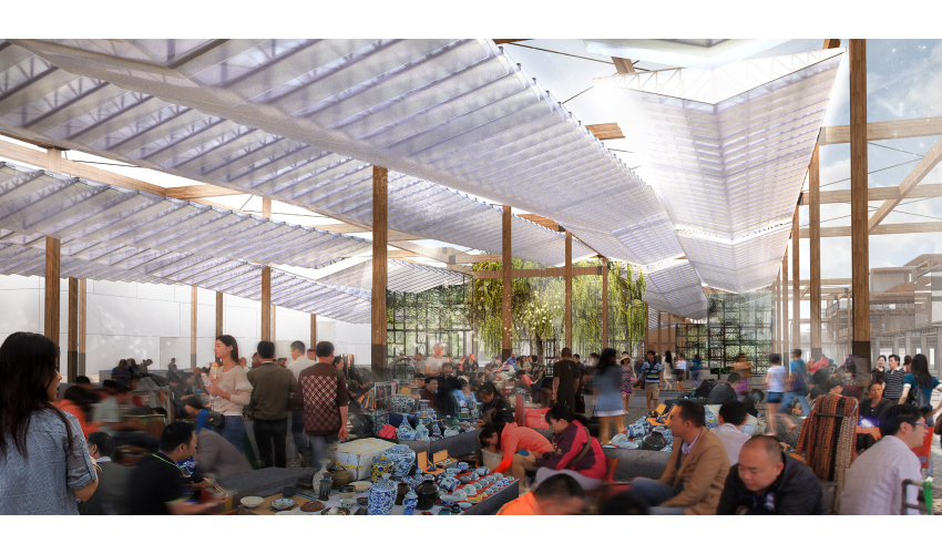 Rendering of Canopy in Market