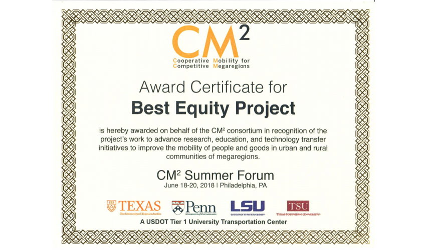 Transit Deserts USA--The Best Equity Project Award | Texas ...