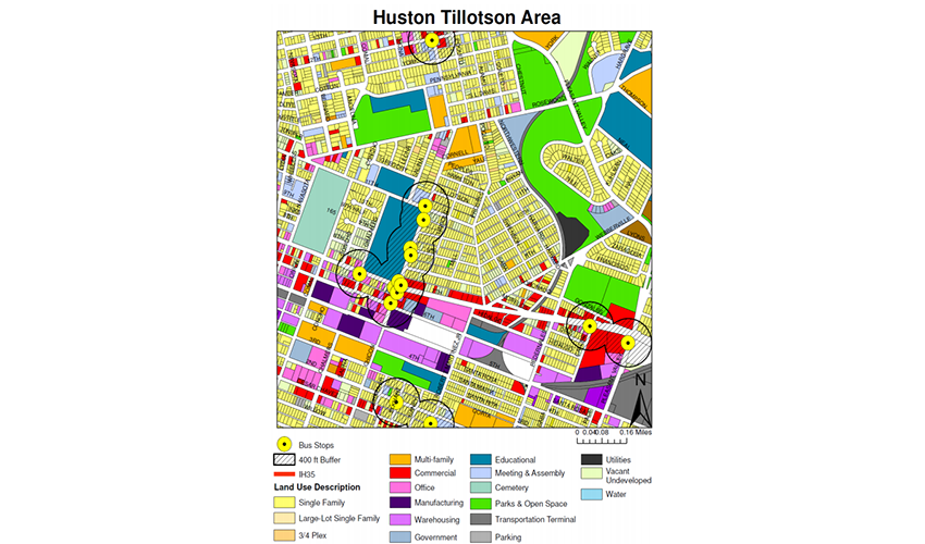 Huston-Tillotson University Bus Stop Environmental Analysis Study