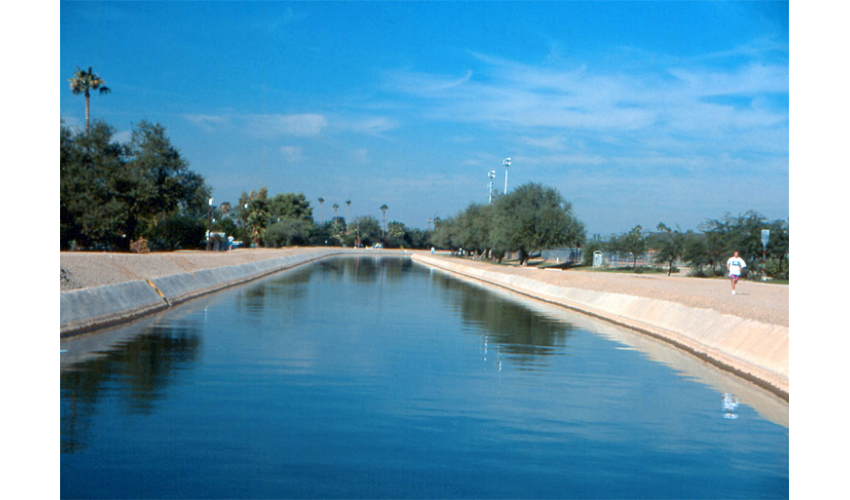 Jogging path, Arizona Canal, Phoenix