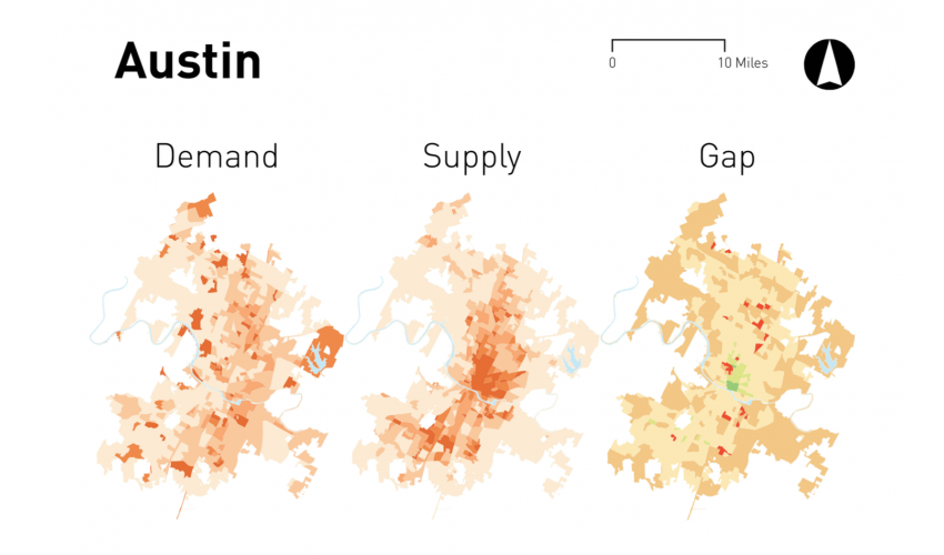 maps of austin transit gap