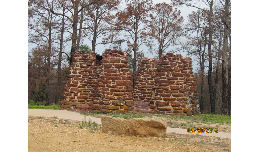 Bastrop State Park Scenic Overlook after the wildfire