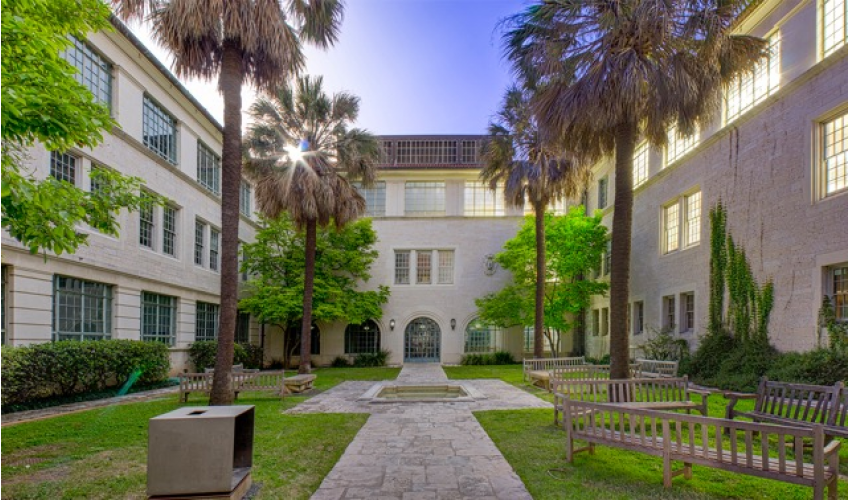 Interior view of Goldsmith Hall Courtyard