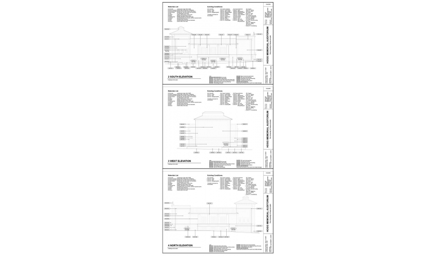 Elevation drawings of the conditions