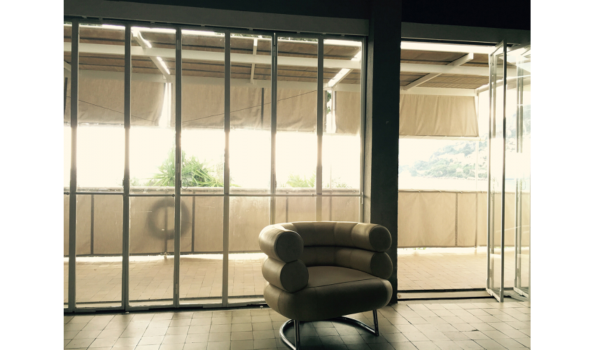 E.1027: Looking from the Living Room to the Terrace, October 2015