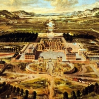 Bird's Eye View of the Palace and Gardens at Versailles, Versailles, France, Andre Le Notre, 1661-1715