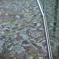 Carpet detail at City Hall, Foster + Partners, London, England, 1998-2002