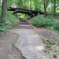 Park Ruhwald, Charlottenburg-Wilmersdorf at around 100 feet above the River Spree, affords panoramas of the city.