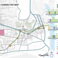 Urban Connections Plan Diagram for a Central District Green Corridor