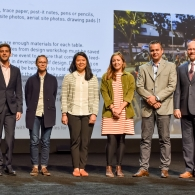 Some of the students picking up their award at the 2018 ASLA Convention