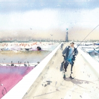 Rendering of Y Shape Jetty Harbor and Salt Ponds