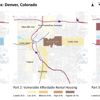 Case Study Results Map for Denver, CO.