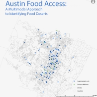Map of Austin Supermarkets and Farmer's Markets