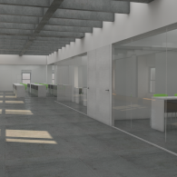 Rendering of flex space and digital classrooms by Page