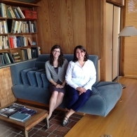 SOA graduates Emily Ardoin and Sarah Hunter at Havens House