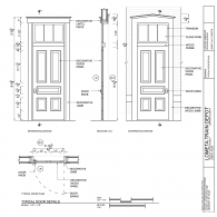 Lometa Train Depot Door CAD Detail