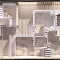 Model of an elementary school classroom, designed by interior design student from The University of Texas at Austin School of Architecture