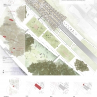 Site plan and formal diagrams.