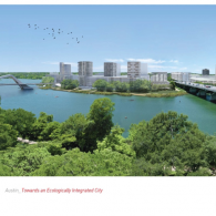 Austin South Shore Waterfront Redesign Proposal. Courtesy Texas Urban Futures Lab.