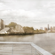 View from Boardwalk - Lady Bird Lake Rendering