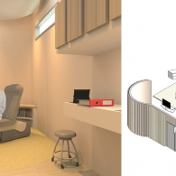 Circular care room concept by Annely Alaniz and Shruti Iyer explores a patient-centered layout