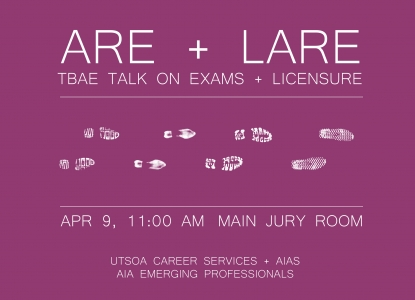 TBAE Talk:  Architect + Landscape Architect Presentation - Thursday, April 9 - Main Jury Room