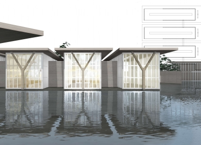 Project: The Modern ArtMuseum of Fort Worth   Designer: Tadao Ando   Student: Siwen Fang