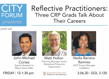 Poster for Reflective Practitioners City Forum event