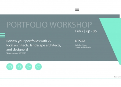 AIA Austin + UTSOA Student Portfolio Reviews - Wednesday, February 7 at 6pm
