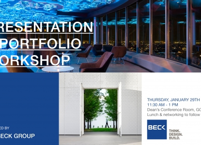 Beck Presentation January 29 at 11:30am