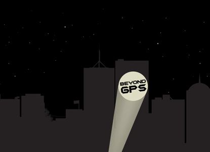 Beyond GPS Search Light Illustration