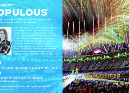 Populous Meet & Greet   November 29th @ 11:30a -- Dean's Conference Room