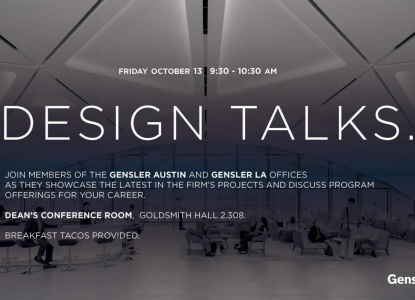Gensler Presentation - October 13 @ 9:30am - GOL 2.308