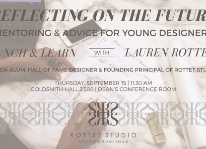Rottet Studio Lunch & Learn - Thursday, September 15 at 11:30am - GOL 2.308